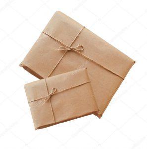 Embalagem com papel kraft
